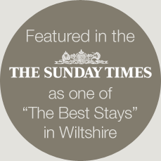 Featured in the sunday times The Sunday Times for Wltshire b and b's